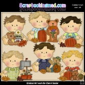 Little Marvin Happy Fall ClipArt Graphic Collection