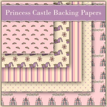 5 Princess Castle Backing Papers Download (C83)