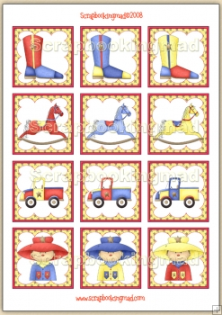 Little Scoogle Boy Topper Sheet PDF Download