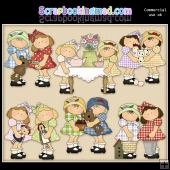 Cute Little Pals ClipArt Graphic Collection