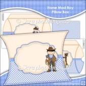 Horse Mad Boy Pillow Box EXTRA LARGE