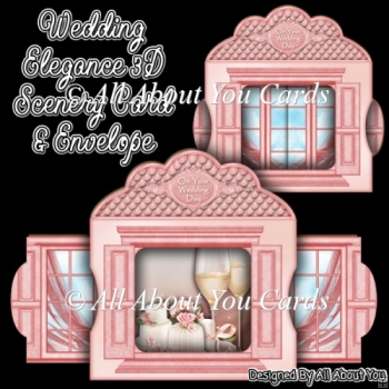 Wedding Elegance 3D Scenery Card & Envelope