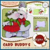 A Beary Merry Kiss-mas Shaped Fold Card Kit