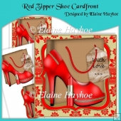 Red Zipper Shoe Cardfront