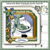 Santa And Bells Scalloped Corner Card Kit