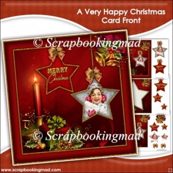 Christmas Kiss Card Front & Insert Panel