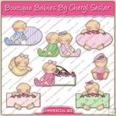 Boutique Babies ClipArt Graphic Collection - REF - CS