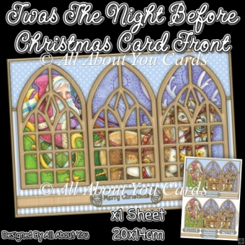 Twas The Night Before Christmas Window Card Front