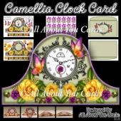 Camellia Clock Card & Envelope