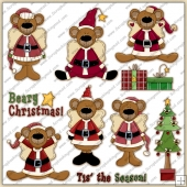 Beary Xmas ClipArt Graphic Collection