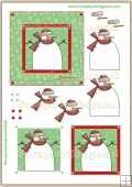 Snowman Brrrrrrrr Red & Green PDF Decoupage Download