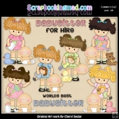 Little Lola Babysitter ClipArt Collection