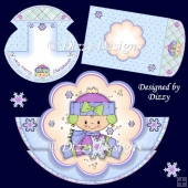 Winter Girl Stepper Rocker Card