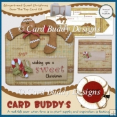 Gingerbread Sweet Christmas Over The Top Card Kit