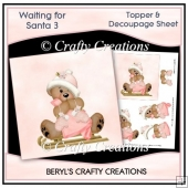 Waiting for Santa 3 - Topper & Decoupage Sheet