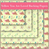 5 Yellow You Are Loved Backing Papers Download (C135)
