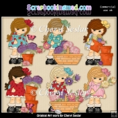 Pretty Mitzis Flower Garden ClipArt Collection