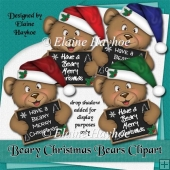 Beary Merry Christmas Bears Clipart