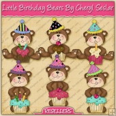 RESALE ART WORK - Little Birthday Bears Collection