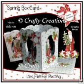 Spring Box Card - Classic Christmas