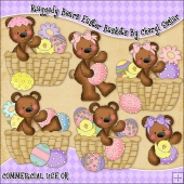 Raggedy Bears Easter Baskets ClipArt Graphic Collection