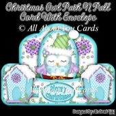 Christmas Owl Push N Pull Card & Envelope