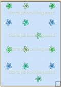 Backing Papers Single - Blue Flowers - REF_BP_54