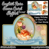 English Rose Card Topper