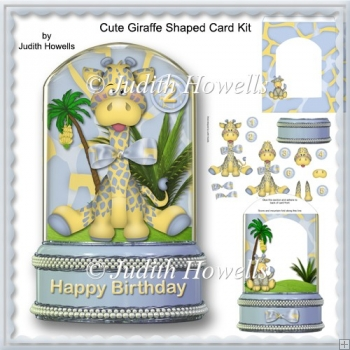 Cute Giraffe Shaped Card Kit