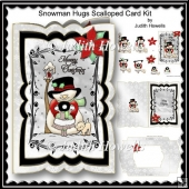 Snowman Hugs Scalloped Card Kit