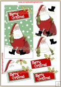 Merry Christmas Santa PDF Decoupage Download