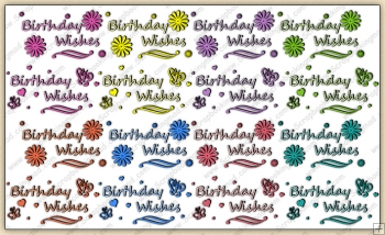 Birthday Wishes Word Art ClipArt Graphic Collection