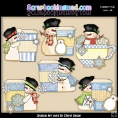 Snowman Espresso ClipArt Collection