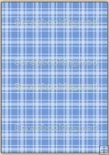 A4 Backing Papers Single - Blue Gingham - REF_BP_137