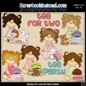 Ellie Mae Tea For Two ClipArt Collection