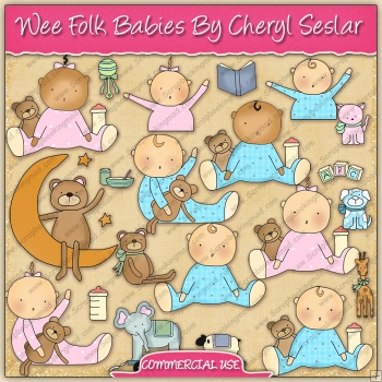 Wee Folk Babies Graphic Collection - REF - CS