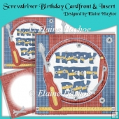 Screwdriver Birthday Cardfront & Insert