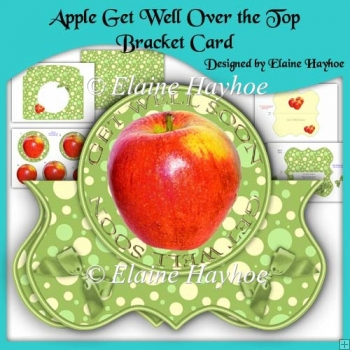 Apple Get Well Over the Top Bracket Shaped Card