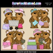 Babs and Barb Shopping Pals ClipArt Graphic Collection