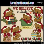 Tibbles Is Santa ClipArt Collection