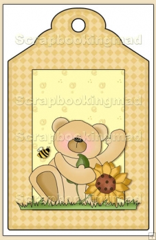 Sunflower Bears Gift Tag - REF_T599