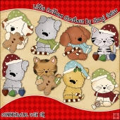 Little Critters Christmas ClipArt Graphic Collection