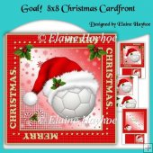 Goal 8x8 Christmas Cardfront Kit