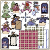 Winter Thyme ClipArt Graphic Collection 5