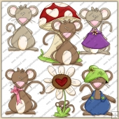 Mini Mouse ClipArt Graphic Collection