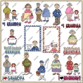 Grandma & Grandpa ClipArt Graphic Collection