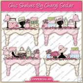 Chic Shelves ClipArt Graphic Collection - REF - CS