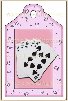 Cards Royal Flush (2) Decorative Tag - REF_T52