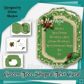 Green Tree Text Christmas Card Kit