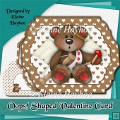 Oops Shaped Valentine Card Kit